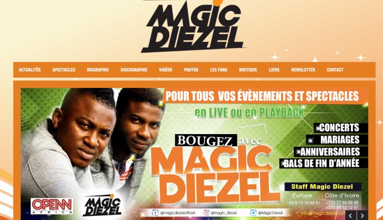 Magic Diezel : un logo, une identité visuelle, un site internet
