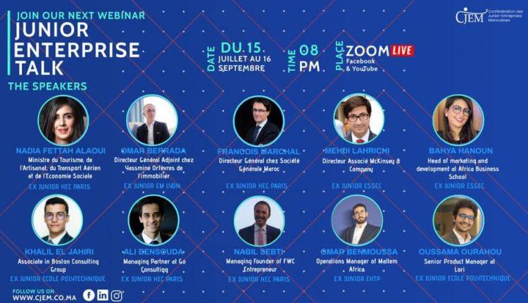 La CJEM lance Junior-Entreprise Talk, une série de Webinaires avec des figures dirigeantes et leaders au Maroc